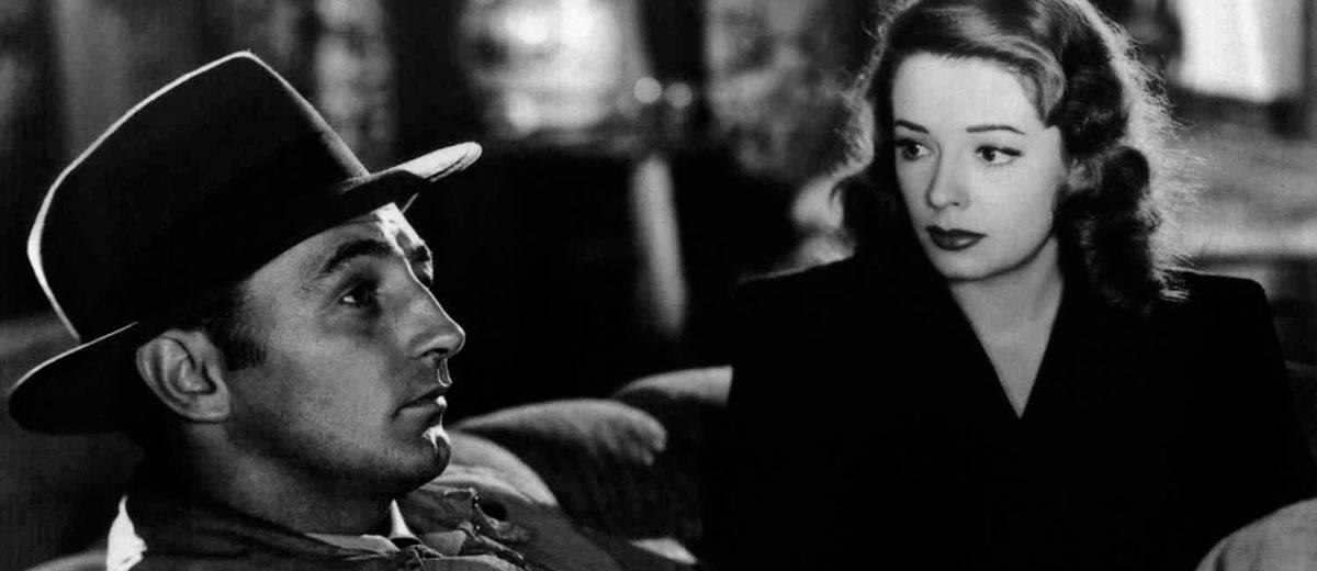 Film noir film frame