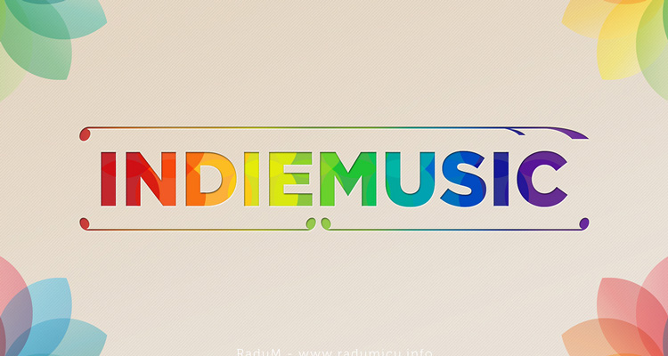 """Indie music"" words poster"