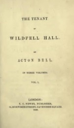 The Tenant of Wildfell Hall´ by Anne Brontë