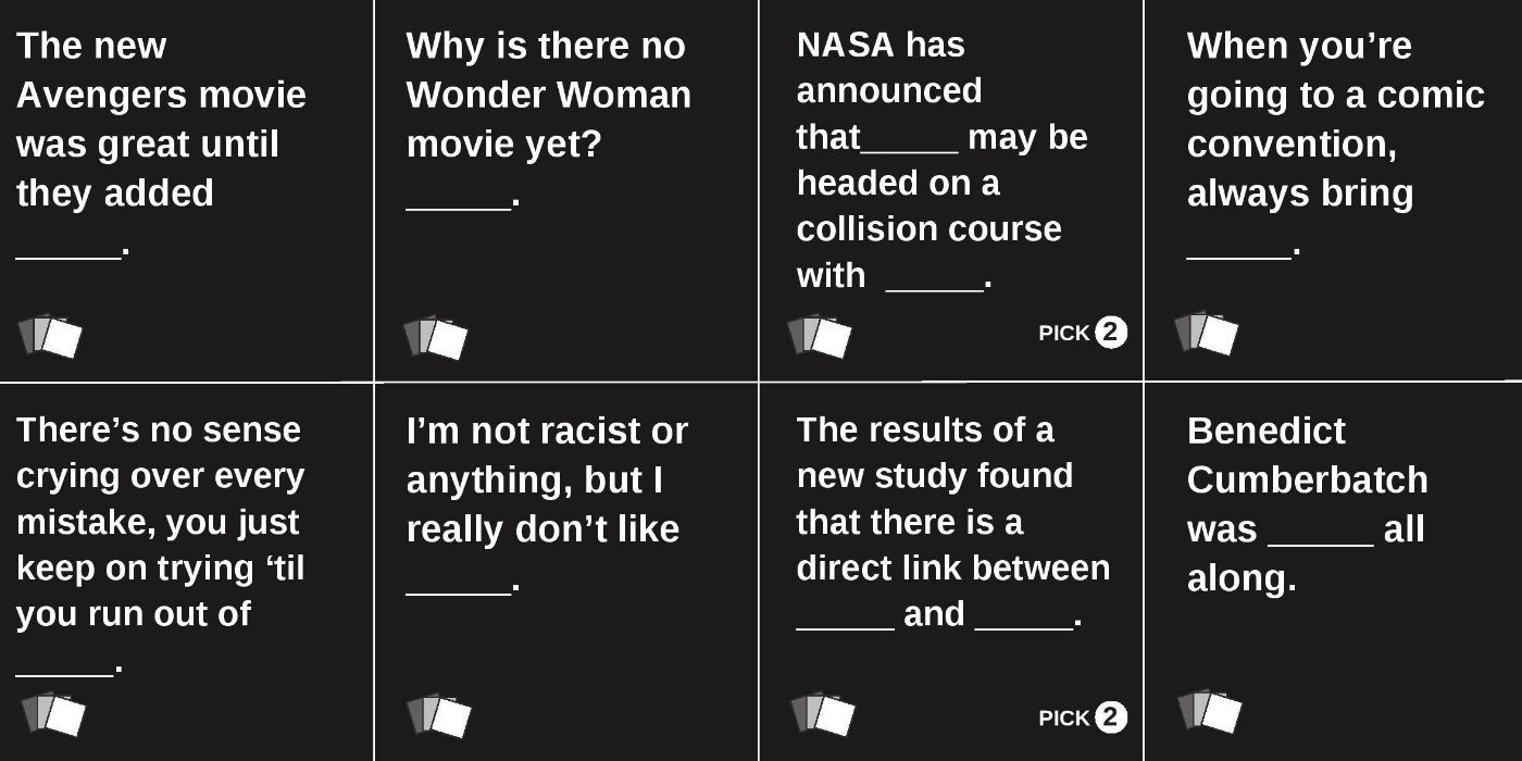 This is a photo of Bright Cards Against Humanity Questions List